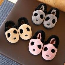 I bambini Pantofole A Casa Scarpe Inverno Delle Ragazze Dei Bambini Del  Panda Del Fumetto Pantofole di Cotone Del Bambino Ragazz. 5d537dd7cee