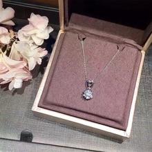 ANI 18K White Gold (AU750) Women Pendant Certified 0.511 Carat F-G/SI Heart Natural Diamond Jewelry Romantic Lover Proposal Gift