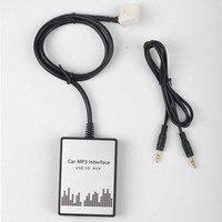 1 set 12 V DC 90 DB 200MA 20 HZ-20 KHZ USB SD AUX Adattatore Per Auto MP3 Audio interfaccia CD Changer per Nissan
