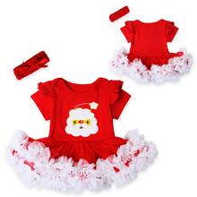 Fashion Christmas Infant Girl Dress Baby Girls Clothes Sets 2pcs Newborn Lace Tutu Dress DS26