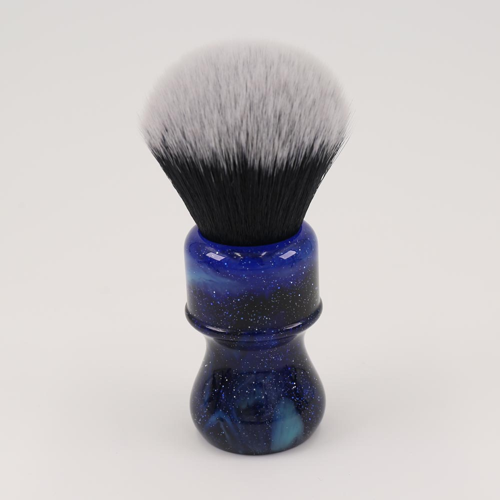 26MM Yaqi Mysterious Space Color Handle Tuxedo Knot Men Shaving Brush 2