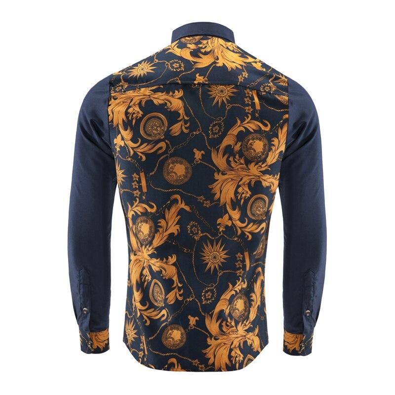 Camisa Masculina Fashion Men Slim Shirt 2018 New Meeste brändi - Meeste riided - Foto 3