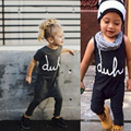 Print Letter Fashion Girls&boys Casual Kids Overalls Cool Romper Summer Clothing