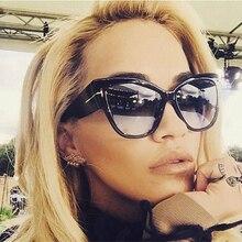 2016 New Tom Fashion Brand Designer Cat Eye Women Sunglasses Female Gradient Points Sun Glasses Big Oculos feminino de sol TF