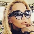 2016 novo Tom marca de moda Designer Cat Eye mulheres óculos de sol feminino gradiente pontos óculos de sol Big Oculos feminino de sol TF