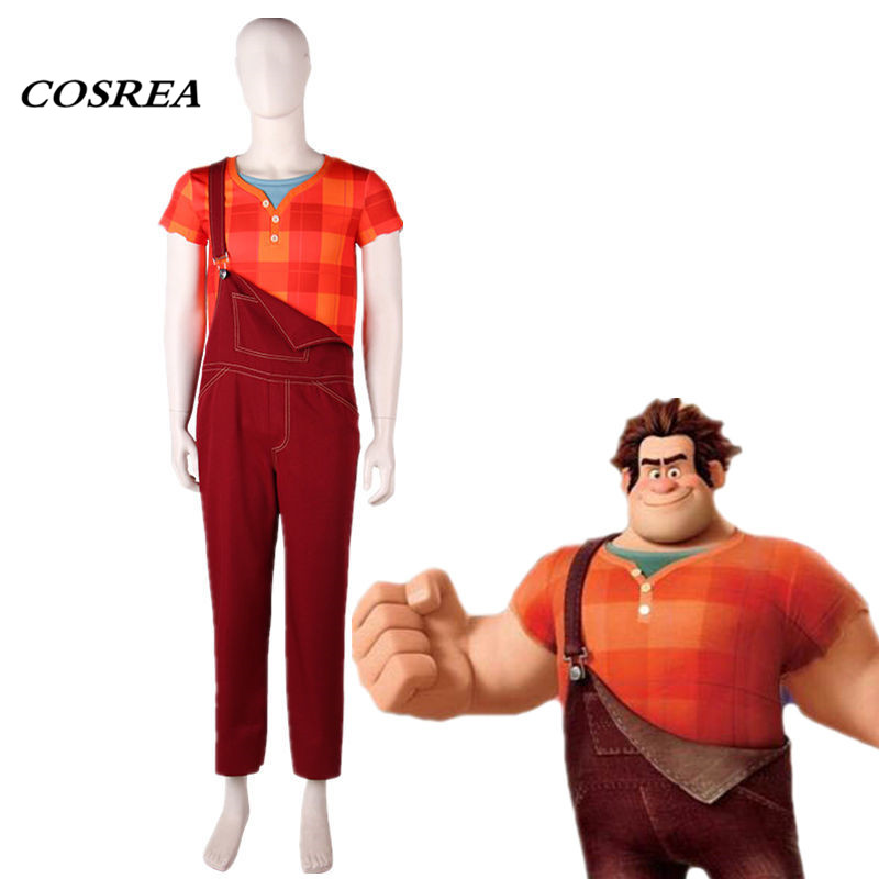 cad2aa670487 COSREA Hot Movie Ralph Breaks the Internet Wreck-It Ralph 2 Cosplay Costume  Top+Jumpsuit Costumes ...