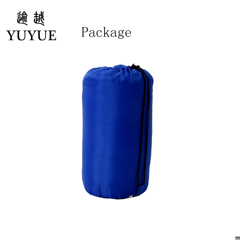 Outdoor 3 season adult cotton sleeping bag cotton for camping tent with envelope type customized sleeping bag cheap sleeping bag 5
