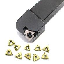 SER1212H16 1 шт.+ 10 шт. 16ER AG60 держатель инструмента ЧПУ с твердосплавными вставками резьбовые пластины для фрезы и ключ токарный станок токарный инструмент