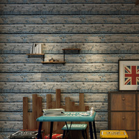 Vintage Solid Wood Striped Wallpaper Roll for Bedroom Non woven Pattern Wall Papers Bedding Living Room Home Decoration 10M
