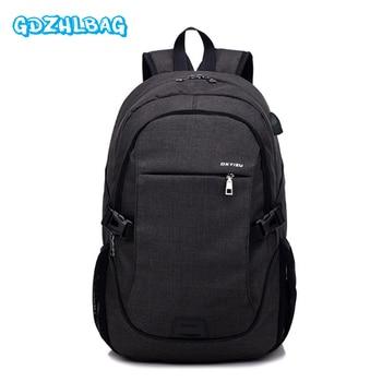 Mochila Casual para hombre 2017, mochila de viaje de negocios para hombre, mochila de hombro con función de carga USB, mochila escolar para mujer B197