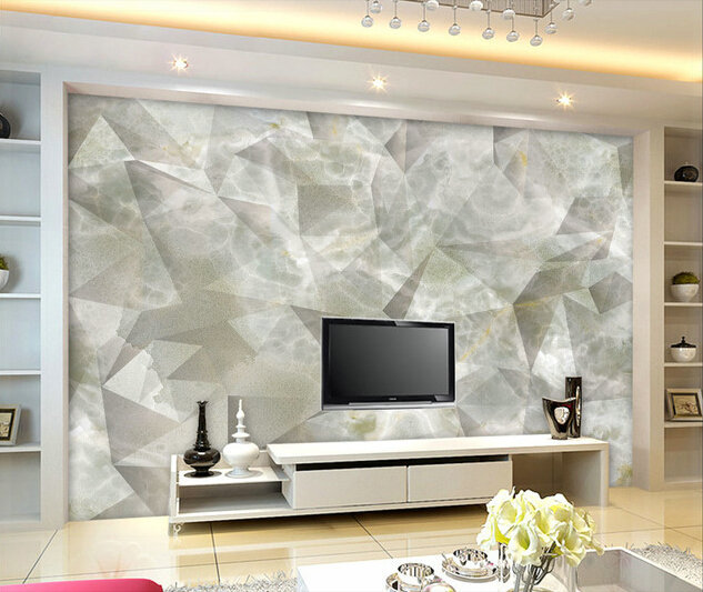 Buy 3d Wallpaper Panels Large Murals Blue Diamond Stereo Space Quietly Elegant