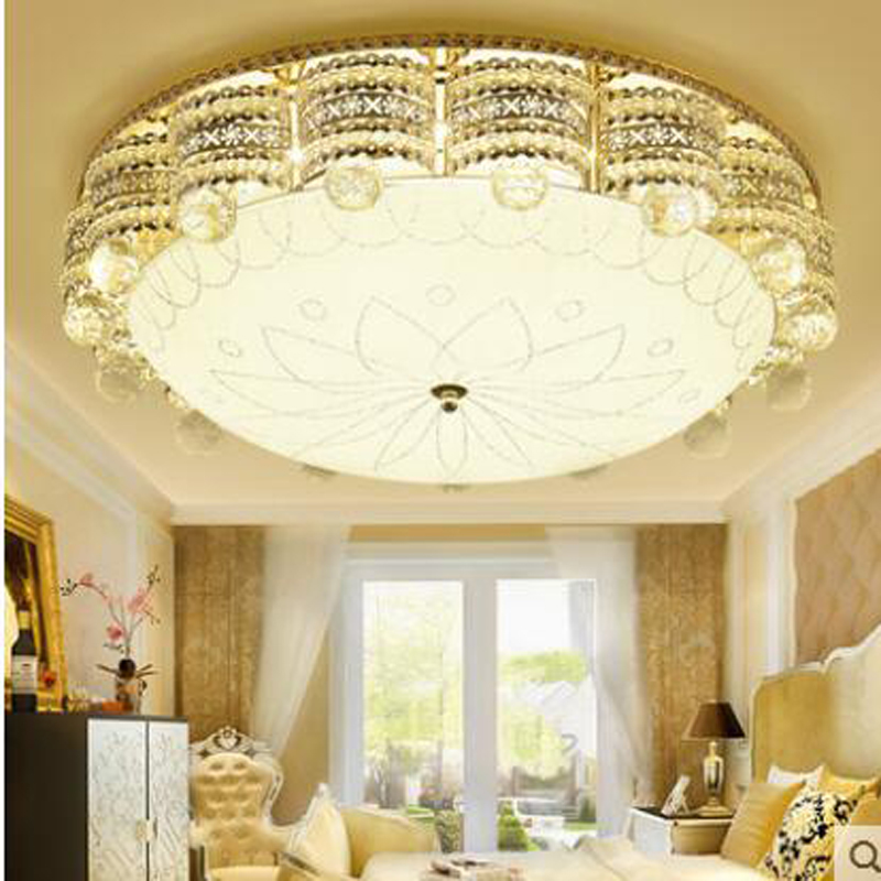 European style ceiling lamp crystal lamp living room lamp led romantic warm master bedro ...