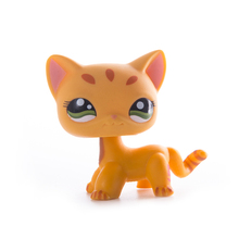 Lps old collection Pet Shop cat Toys Lps free shipping Short Hair Cat Action Standing Figure Cosplay Toys Children Best Gift цена 2017