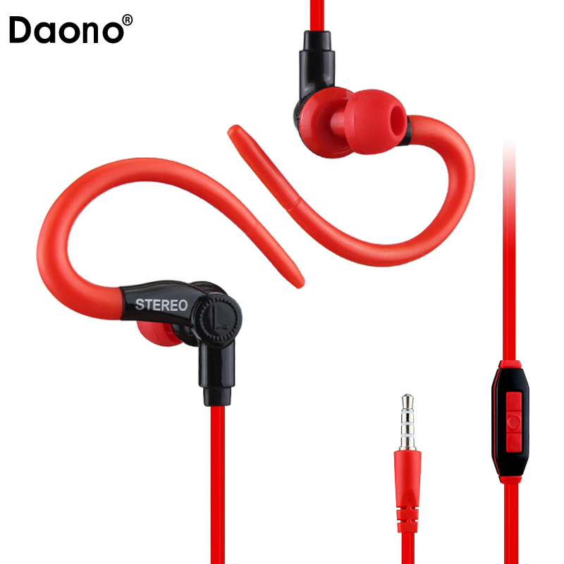 Daono A08 sport earphone Music Headset Stereo Headphones with Mic 3.5mm Earbuds for All Mobile Phone Tablet MP3