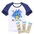 Горячая распродажа футболка pokemon мальчики одежда с коротким рукавом Squirtle и Treecko хлопок мальчиков одежда карманный монстр детей футболки