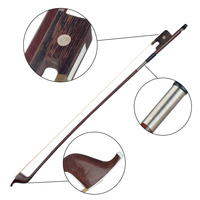 Brazilwood Bow Horsehair Bow Hair French Style Bows for Size 4/4 Double Bass Great Balance Point Orchestral Strings Accessories