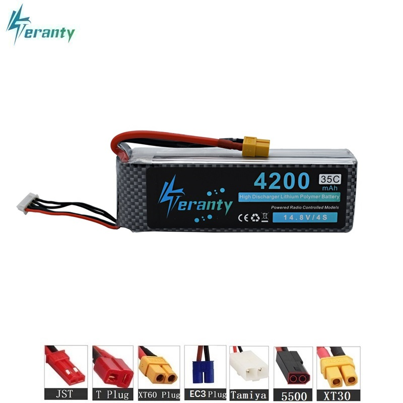 Lipo Power 14.8v 4200mAh 35C 4S LiPo Battery For RC Helicopter RC Car RC Boat Quadcopter Remote Control Toys Parts 14.8v battery lynyoung battery lipo 4s 3000mah 14 8v 35c for rc bike drone boat plane car truck helicopter