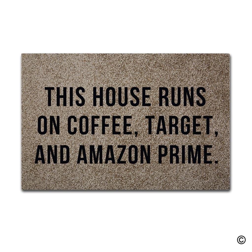 Doormat Entrance Floor Mat This House Runs On Coffee