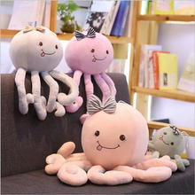 Creative Lovely Fish Toy Short Plush Toys PP Cotton Stuffed Ocean Animal Octopos Doll Children Gift