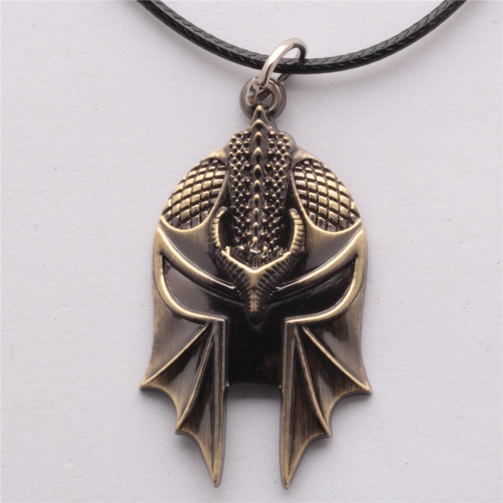 Online Game Dragon Age 3: Inquisition Mask Pendant Necklace For Men Alloy fashion necklaces Drop shipping