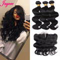 7A Virgin Brazilian Body Wave Lace Frontal Closure  Cheap Body Wave Full Lace Ear to Ear Closure 13 x 4 Free Shipping
