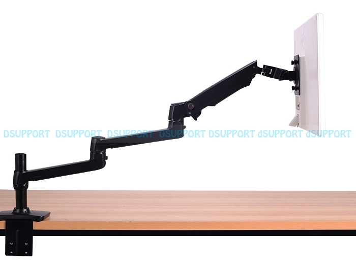 High Quality Aluminum Alloy Free Lifting Ultra-long Arm LED LCD Monitor Holder Lengthen Arm Table Clamping Full Motion TV Mount aluminum alloy full motion dual screen led lcd monitor holder desktop clamping tv mount arm dm1002