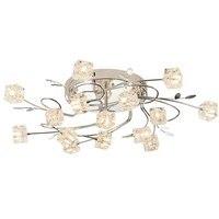 31 11 Lights Modern Crystal Living Room Ceiling Lamp Meeting Room Ceiling Lighting Fixtures Dining Rom