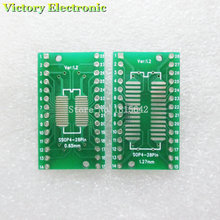 10PCS Lot TSSOP28 SSOP28 to DIP28 SOP28 Transfer Board DIP Pin Board Pitch Adapter NEW Wholesale