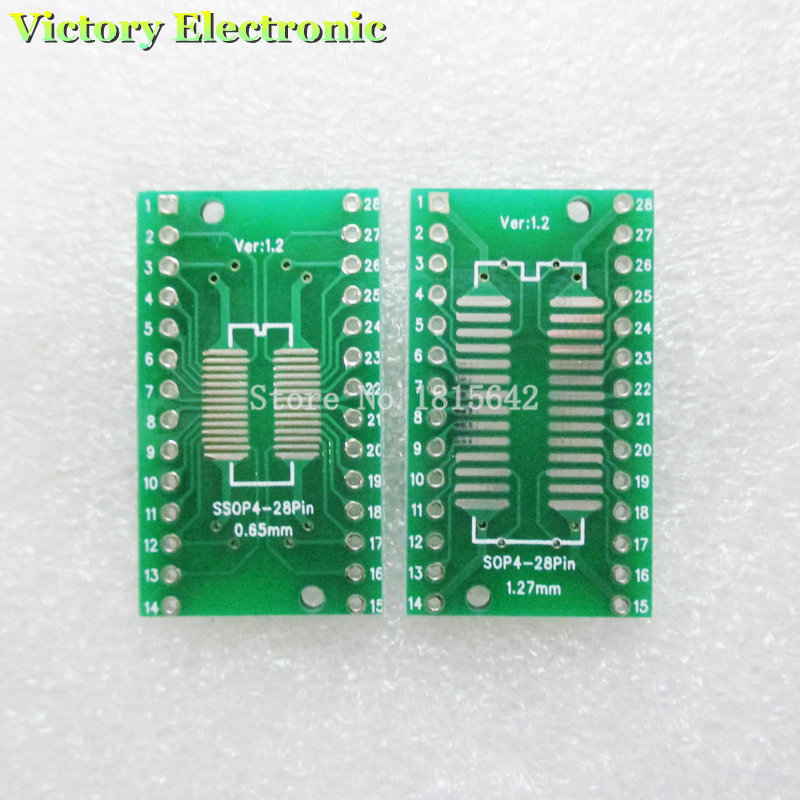 10PCS/Lot TSSOP28 SSOP28 to DIP28 SOP28 Transfer Board DIP Pin Board Pitch Adapter NEW Wholesale ...