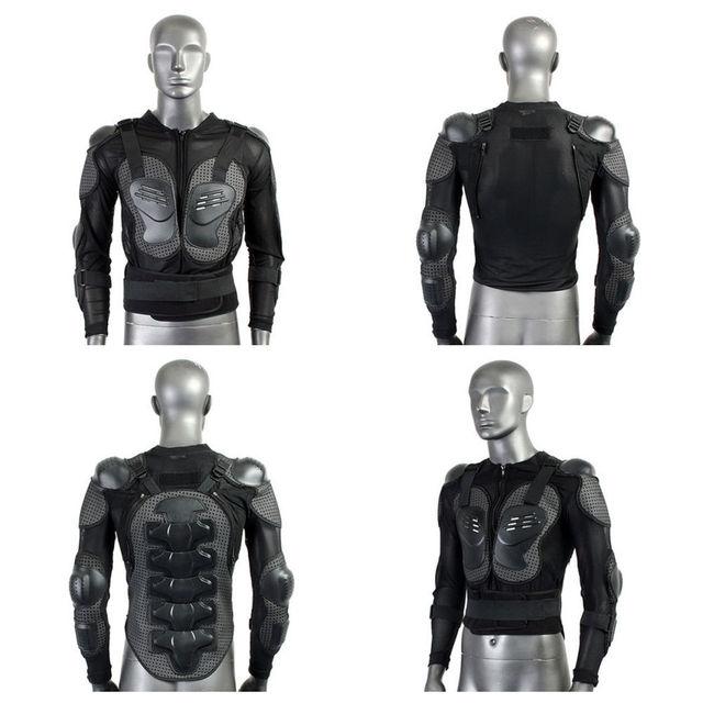 Unisex Adultos Motocicleta Body Armor Guardia Ropa Chaqueta de Protección En El Pecho Gear Negro
