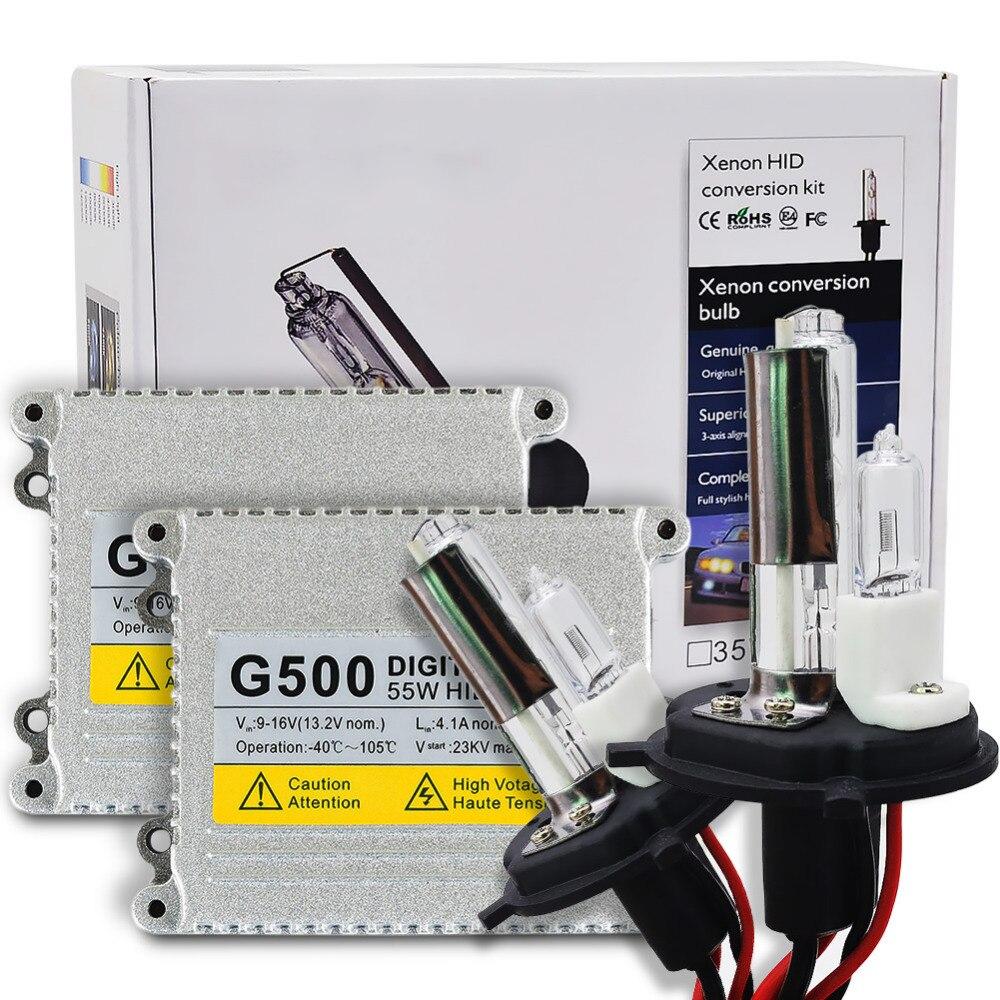 AC 55 W H4 xenón kit lámpara de la linterna del coche H4 con lámpara halógena 4300 K 5000 K 6000 K 8000 K H4 lámpara de xenón