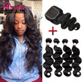 Brazilian Body Wave With Closure Brazillian Hair With Closure 3 or 4 Bundle Brazilian Virgin Hair Weave Bundles With Closure