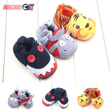 Newborn Baby Shoes Skid-Proof Soft Genuine Leather Boys Girls Infant Slippers 0-6 6-12 12-18 First Walkers