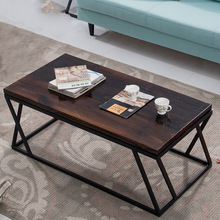 American retro to do the old wrought iron wood coffee table casual creative simple living room furniture display racks