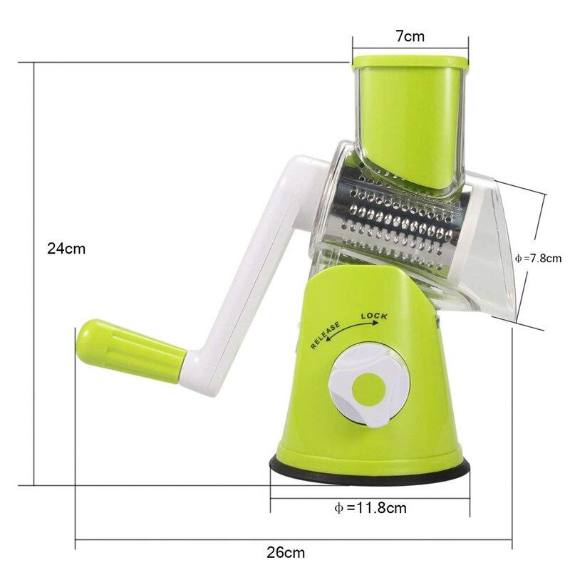 Multi-fonction Hachoir manuel rotatif râpe à légumes cutter Cuisine Outil