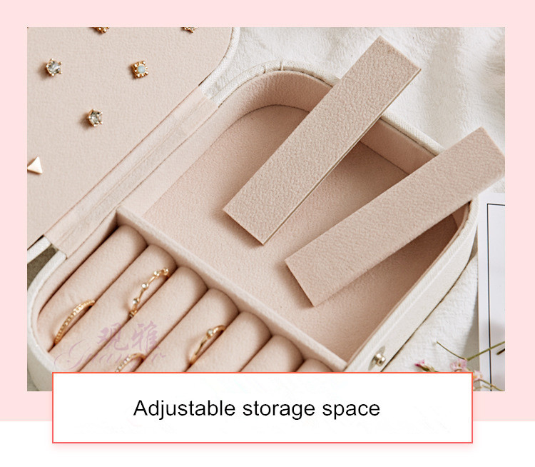 Корейский стиль Свежий и простой серьги для молодой женщины пластины шкатулка переносной серьги из кожи кольцо Multi-function коробка для