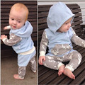 Baby Boy Clothing Sets Cotton Long Sleeve Tops Hooded+Print Pattern Pants Infant Kids Children Outfit Clothes 2PCS Suit 0-2T