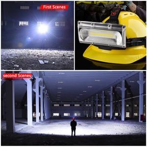 Image 5 - סופר מואר COB LED פנס תיקון אור ראש מנורת USB נטענת עמיד למים פנס 18650 סוללה דיג תאורה