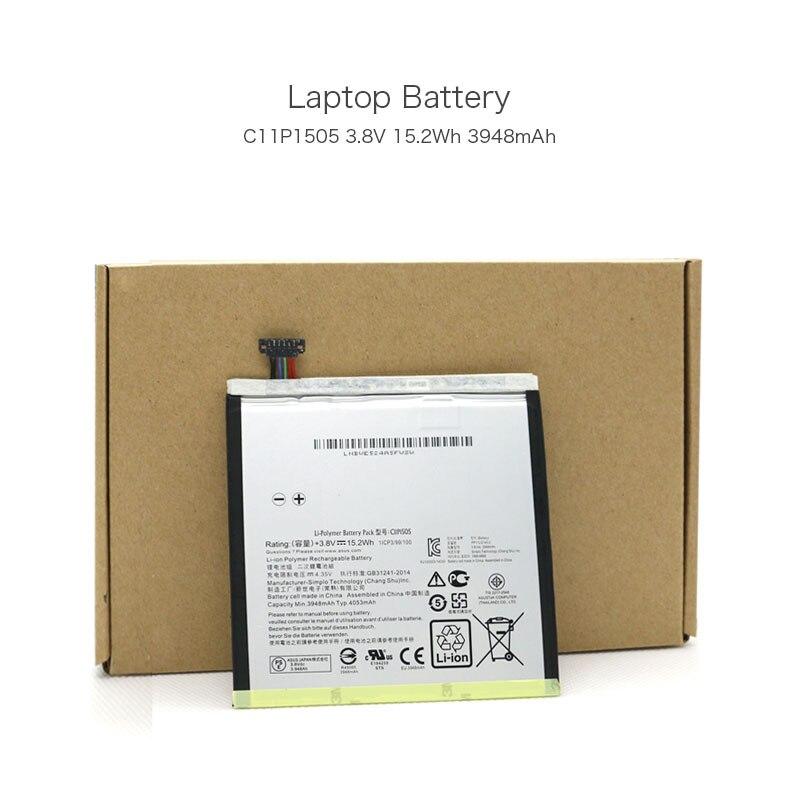 100 Original 3 8V 15 2Wh 3948mAh C11P1505 Laptop Battery for Asus ZenPad 8 0 Z380KL