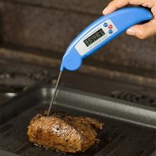 Portable Digital Food Thermometer Foldable Electronic BBQ Barbecue Meat Thermometer Instant Probe Kitchen Cooking Oven Tools ch 102 foldable instant read digital meat thermometer