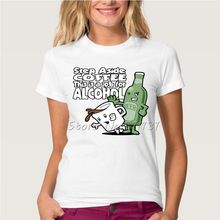 """Step aside coffee – This is a job for alcohol"" girlie / women's shirt"