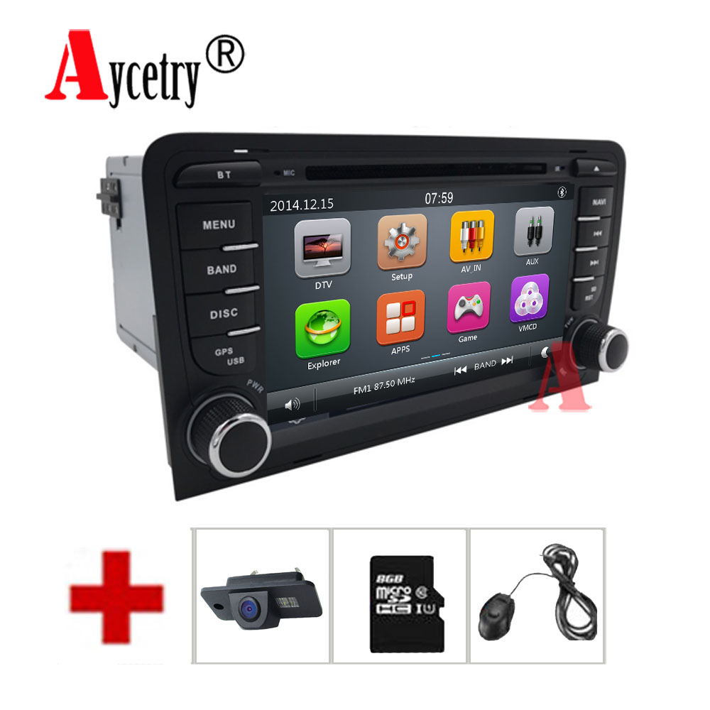 Aycetry 2 din Head unit Car multmedia DVD player GPS navigation autoradio For Audi A3 S3