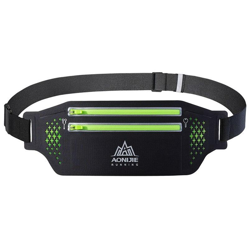 Aonijie Waist Bag Ultralight  Fitness Portable Racing Bag Breathable Waist Pack Nylon Running Hiking