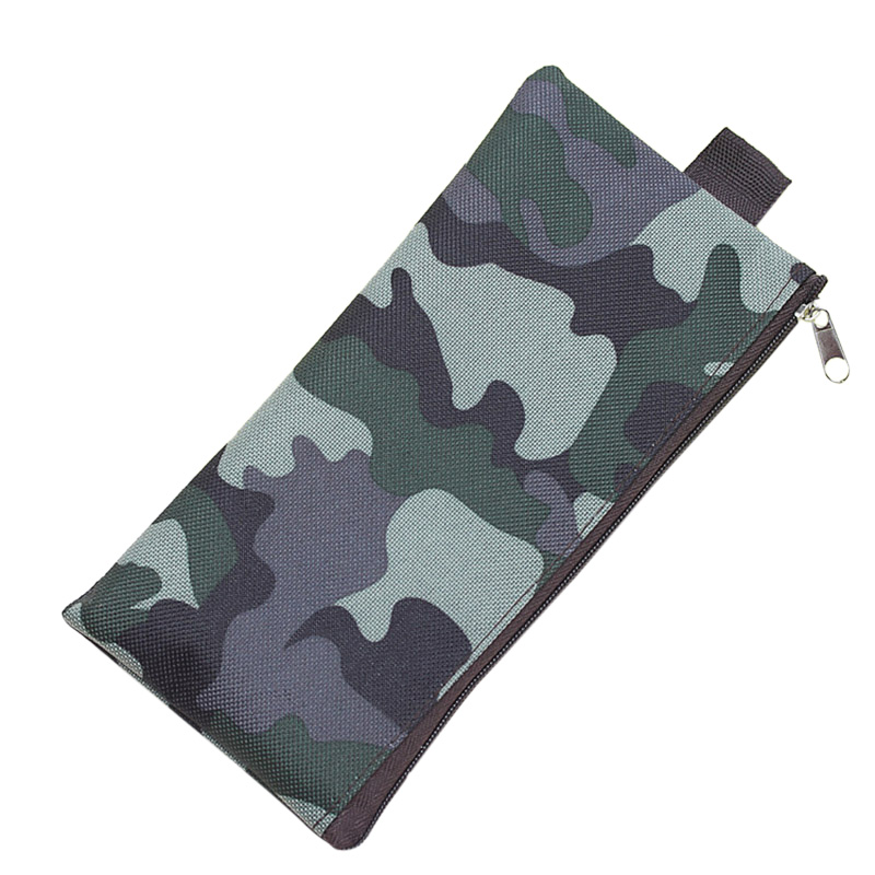 Newly Cosmetic Bag Pencil Bag Boys Girls Pen Storage Case Camo Zip Pouch Cosmetic Brush Holder Makeup Organizer retro stripe pencil pen case cosmetic pouch pocket brush holder makeup bags life style pencil bag pen box
