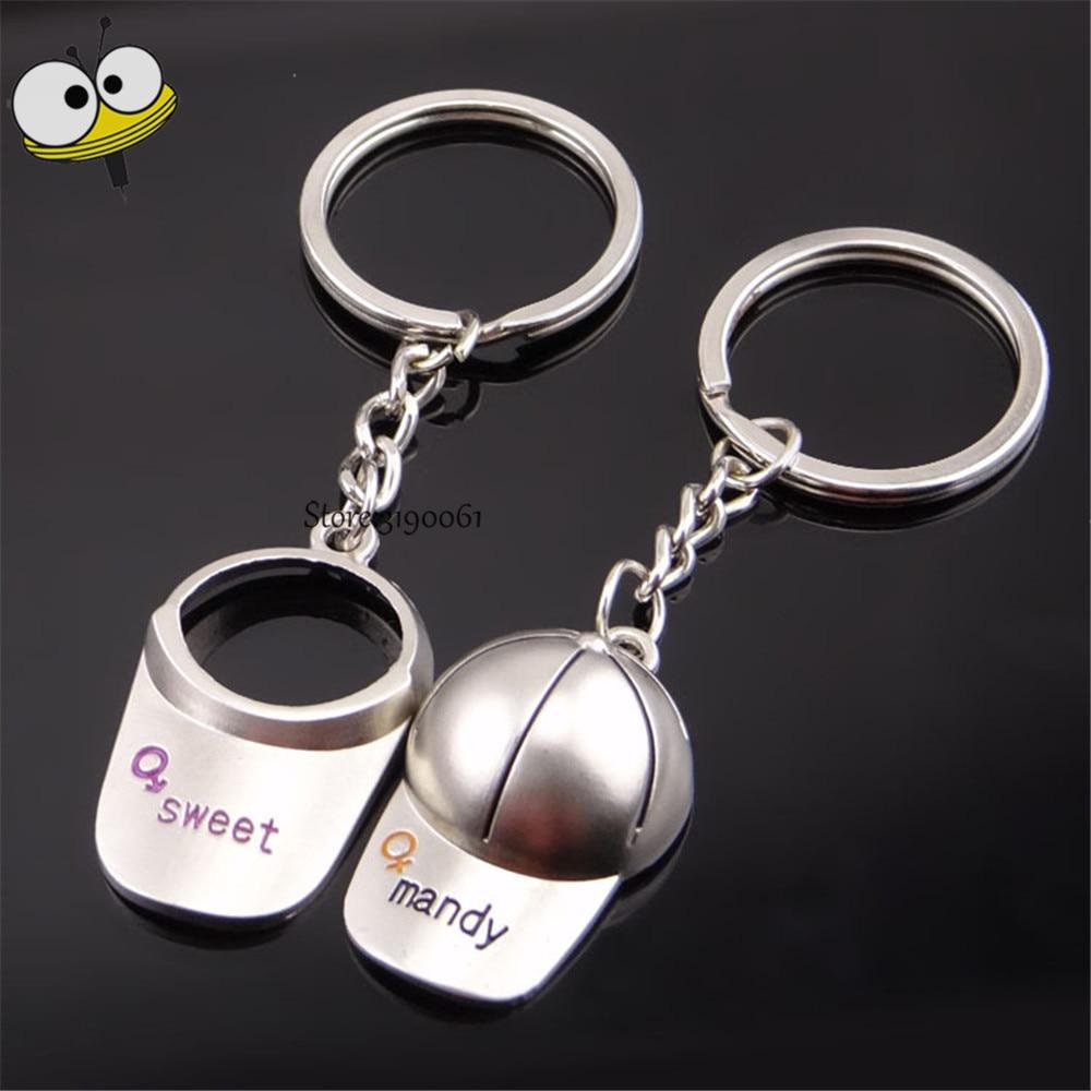 Creative Gifts Golf Caps Sports Hats Keychain Car Key Ring Key Holder Car Styling For Volkswagen Beetle Suzuki Nissan Toyota BMW
