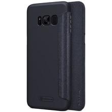 Nillkin Sparkle Флип кожаный чехол для Samsung Galaxy S8 Твердый переплет Пластиковый заднюю крышку телефона сумка чехол для Galaxy S8 случае