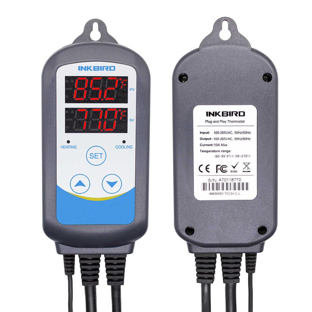 Inkbird 加熱冷却事前有線温度コントローラ 3 タイプ eu 温度コントローラの ITC-306 、 ITC-308 、 ITC-310T-B
