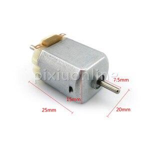 J248b микро двигатель постоянного тока 130 двойной выход двигатель вала 3 В 15000 об/мин DIY модель машины, маленький двигатель постоянного тока
