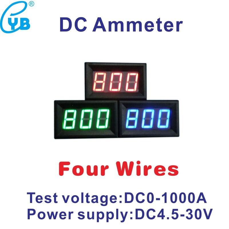 DC 1000A измеритель величины тока светодиодный цифровой измеритель тока DC Вольтметр Амперметр поставить Напряжение DC4.5-30V амперметр постоянно...