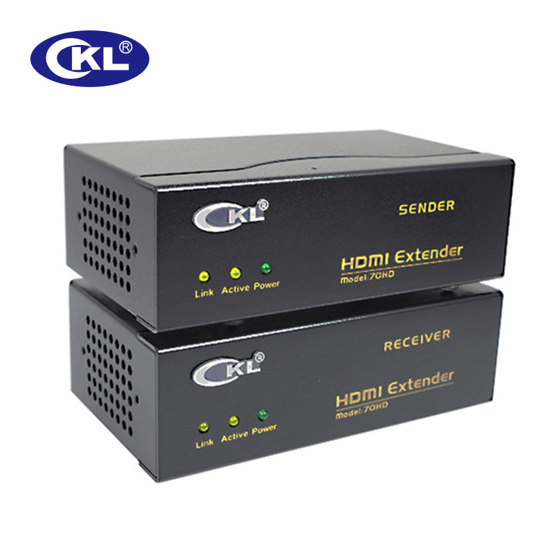 Promotions CKL Up To 230 Feet/70M HDMI Extender 4K*2K 3D Over Cat6e Cable Supports Multi-Level Cascading Metal Case CKL-70HD